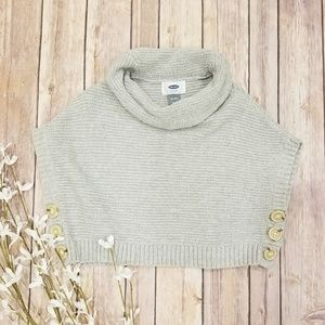 Old Navy Poncho Cowl Neck Sweater 12-18 months